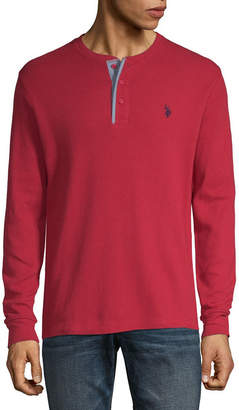 U.S. Polo Assn. USPA Mens Henley Neck Long Sleeve Thermal Top