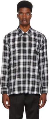 Neil Barrett Black and White Plaid Shirt