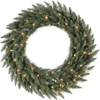 "Vickerman 60"" Pre-Lit Camden Fir Artificial Christmas Wreath"