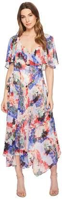 Catherine Malandrino Jos Ruffle Midi Wrap Dress Women's Dress