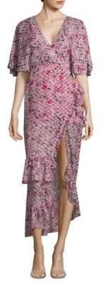 Saloni Rose Silk Dress