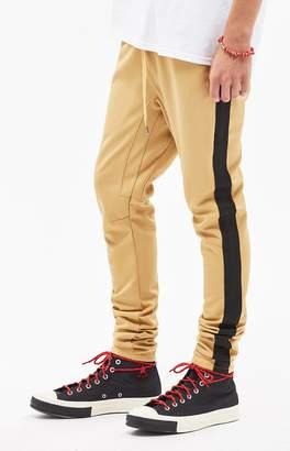 PacSun Drop Skinny 2.0 Tricot Side Stripe Gold Track Pants