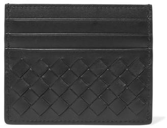 Bottega Veneta - Intrecciato Leather Cardholder - Black $250 thestylecure.com