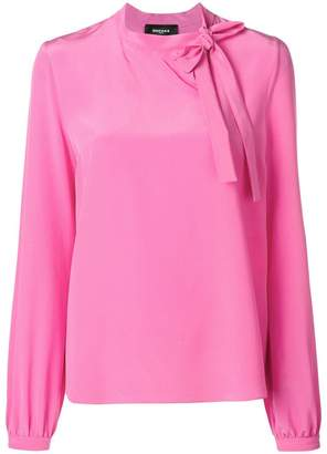 Rochas bow front boxy blouse