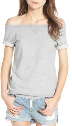 Women's Treasure & Bond Off The Shoulder Sweatshirt $59 thestylecure.com
