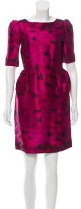 Rochas Animal Print Mini Dress