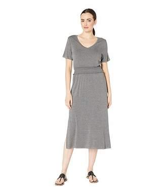 Bobeau B Collection by Simone Short Sleeve Smocked Waist Dress