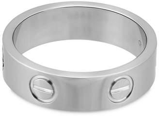Cartier Estate 18K White Gold Love Ring Size 5.75