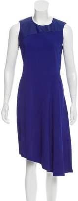 Reed Krakoff Leather-Trimmed Midi Dress w/ Tags