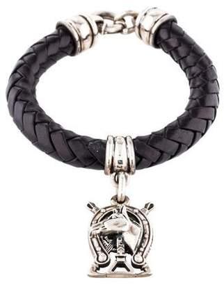 Kieselstein-Cord Leather Horse Charm Bracelet