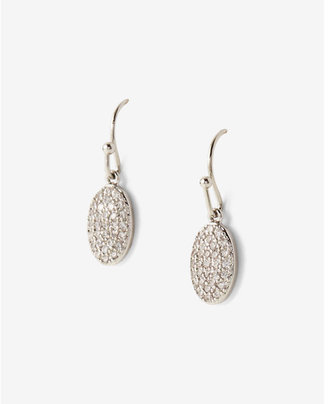 Express Mini Pave Oval Drop Earrings $19.90 thestylecure.com