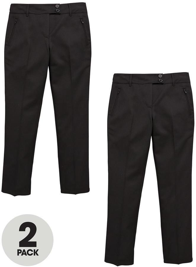 Very Schoolwear Girls Skinny School Trousers - Black