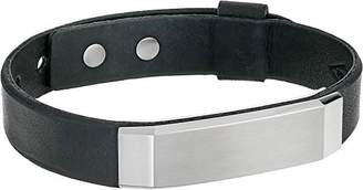 Fossil Stainless Steel and Leather Bracelet
