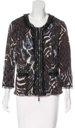Alberto Makali Embellished Knit Jacket