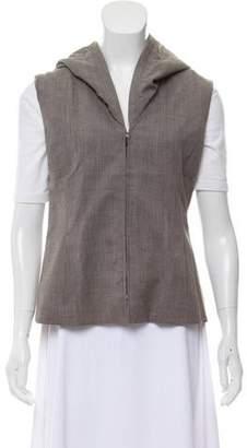 Lafayette 148 Hooded Wool Vest