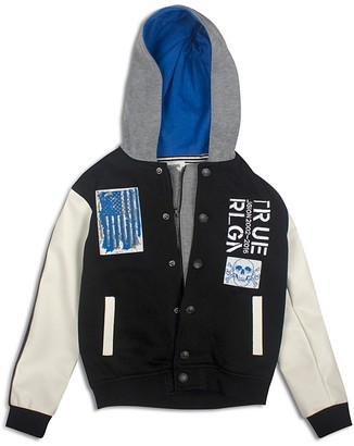 True Religion Boys' Punk Hooded Varsity Jacket - Sizes 8-18 $129 thestylecure.com
