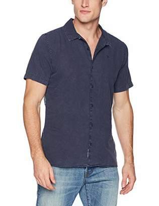Tommy Hilfiger Tommy Jeans Men's Short Sleeve Button Down Shirt Camp Style