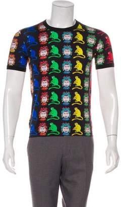 Dolce & Gabbana Knight & Monkey Print T-Shirt