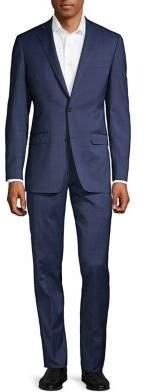 Black & Brown Black Brown Windowpane Check Suit