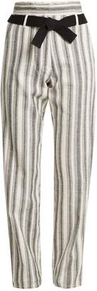 Vanessa Bruno Iwen high-rise striped cotton trousers