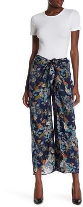 Angie Floral Print Wrap Pants