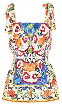 Dolce & Gabbana Printed cotton top