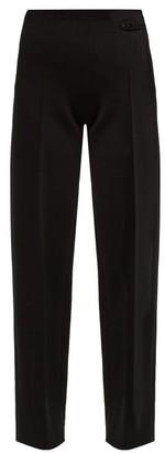Kwaidan Editions High Rise Wool Blend Crepe Trousers - Womens - Black
