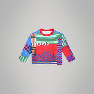Burberry Graphic Print Jersey Sweatshirt