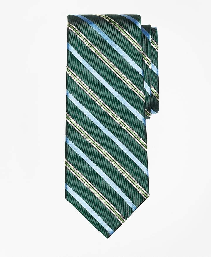 Brooks Brothers  Tonal Alternating Split Stripe Tie