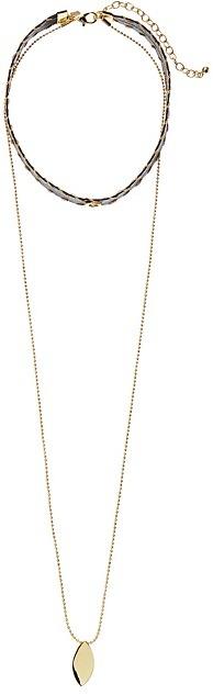 Rebecca MinkoffRebecca Minkoff - Leather Layered Choker Necklace