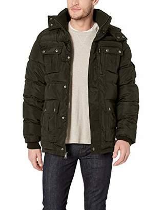 Ben Sherman Men's Hooded Bubble Jacket