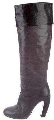 Miu Miu Leather Knee-High Boots