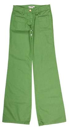 Chloé Mid-Rise Flared Jeans green Chloé Mid-Rise Flared Jeans