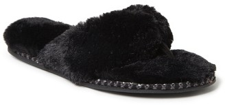 Dearfoams Women's Faux Fur Thong Slippers