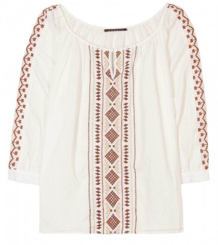Velvet DIRAN EMBROIDERED TUNIC
