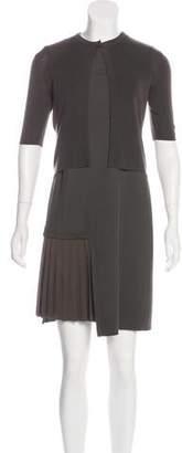 Akris Punto Paneled Woven Dress Set