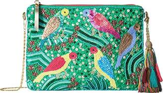 Betsey Johnson Poolside Clutch Crossbody with Beads Sequins Gemotric Designs