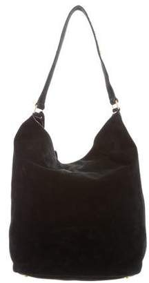 Saint Laurent Studded Suede Hobo