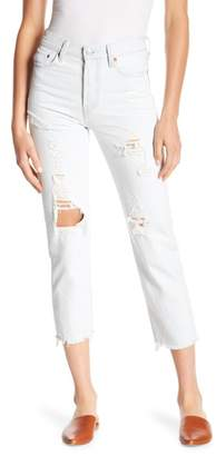 Levi's Wedgie Distressed Straight Leg Jeans