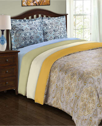 Home City Inc Superior Heritage 1800 Series Paisley Duvet Set - King/California King - Sage Bedding