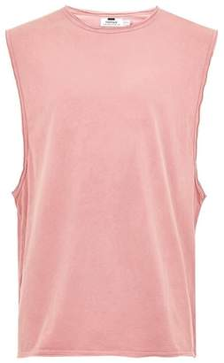 Topman Raw Edge Sleeveless T-Shirt