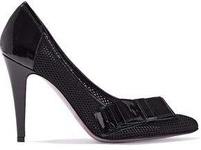 Just Cavalli Patent Leather-Trimmed Mesh Pumps