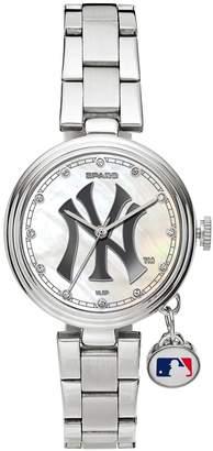 New York Yankees Sparo Charm Watch - Women's Stainless Steel