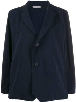 Issey Miyake geometric single-breasted blazer