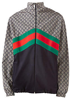 88c3112a8c0 Gucci Men s Oversize Technical Jersey Jacket