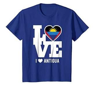 Antigua Love T-Shirt Patriotic Antiguan Expat