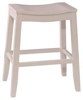 "Hillsdale Furniture 24"" Fiddler Backless Counter Stool White"