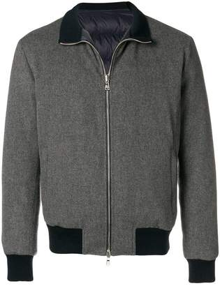 Barba zipped bomber jacket