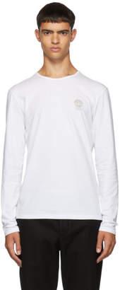 Versace Underwear White Logo Long Sleeve T-Shirt