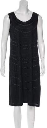 Issey Miyake Sleeveless Knit Midi Dress